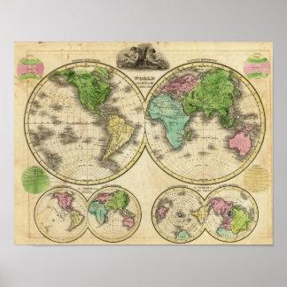 World Globular Projection Poster
