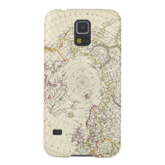 World, gnomonic proj V North Pole 45 N Lat Galaxy S5 Cover