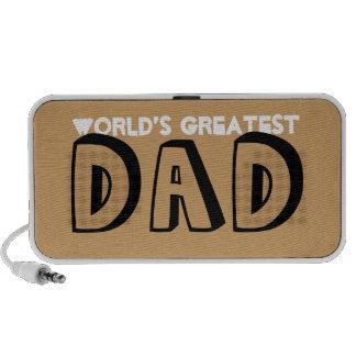 World greatest dad indie style hand drawn brown notebook speaker