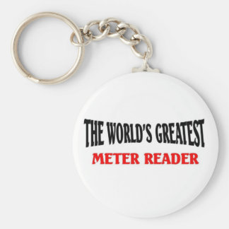 World greatest Meter Reader Basic Round Button Key Ring