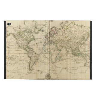 World Hand Colored map