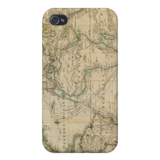 World Hand Colored map iPhone 4 Case
