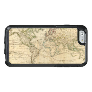 World Hand Colored map OtterBox iPhone 6/6s Case