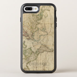 World Hand Colored map OtterBox Symmetry iPhone 8 Plus/7 Plus Case