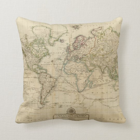 World hand coloured map cushion zazzle world hand coloured map cushion gumiabroncs Images