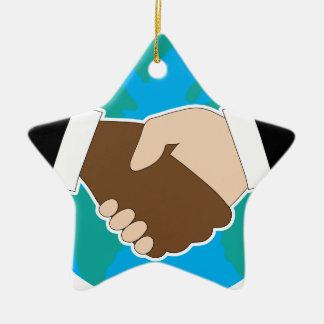 World Hand Shake Christmas Ornament
