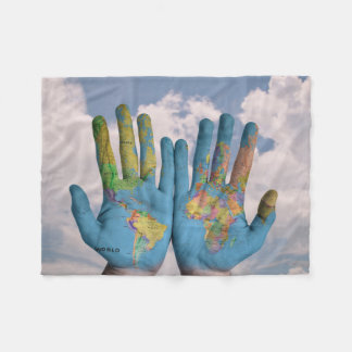 World Hands Fleece Blanket