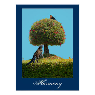 World harmony Earth Day animal nature poster