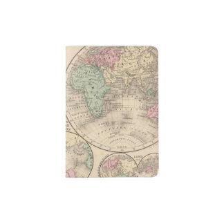 World hemispheres  Map by Mitchell Passport Holder