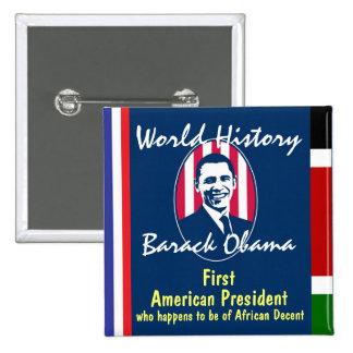 World History 15 Cm Square Badge