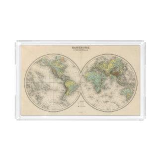 World hypsometric maps