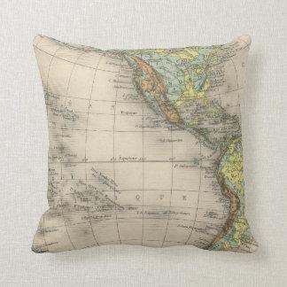 World hypsometric maps cushion