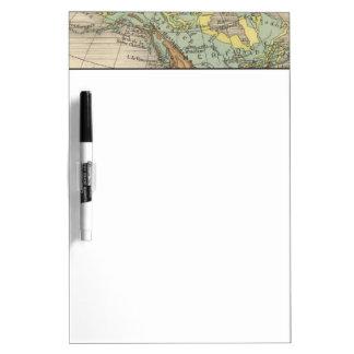 World hypsometric maps dry erase board