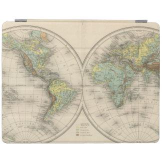 World hypsometric maps iPad cover
