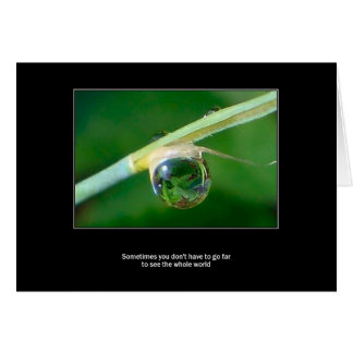World in a droplet greeting card