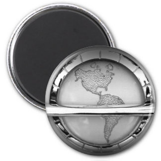 World in Chrome Magnets
