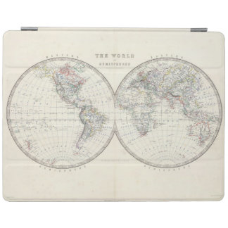 World in hemispheres iPad cover