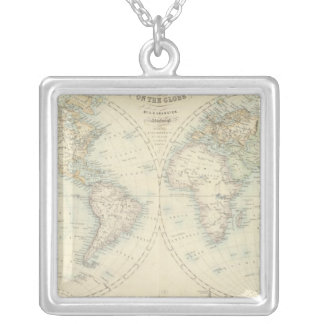 World in Hemispheres Silver Plated Necklace