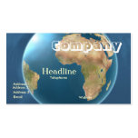 World International Globe Business Card /2012 Cldr