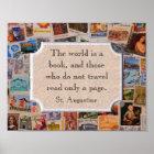 World is a Book - art print