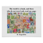 World is a Book -quote poster