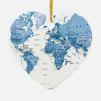 World is Art Blue - Children Ceramic Heart Decoration