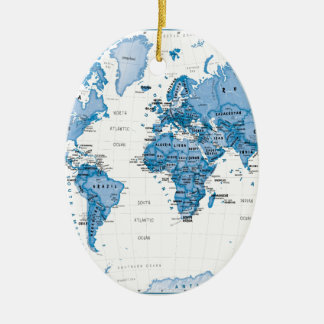 World is Art Blue - Children Christmas Ornament