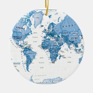 World is Art Blue - Children Christmas Ornament