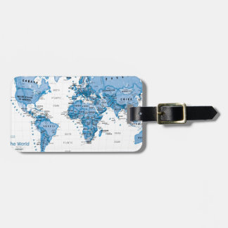World is Art Blue - Children Luggage Tag