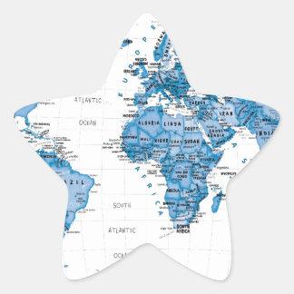 World is Art Blue - Children Star Sticker