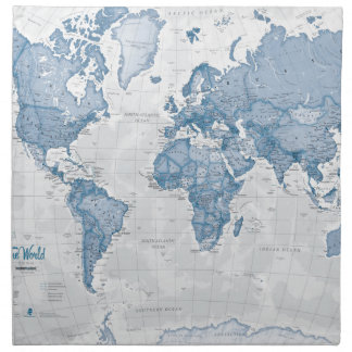 World is Art - Blue Napkin