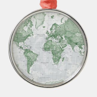World is Art - Green Christmas Ornament