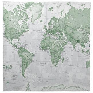 World is Art - Green Napkin