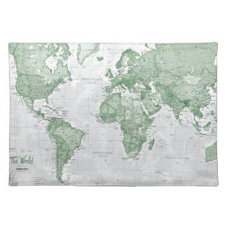 World is Art - Green Placemat