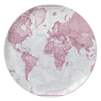 World is Art - Pink Plate