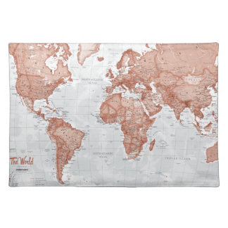 World is Art - Red Placemat