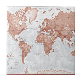 World is Art - Red Tile