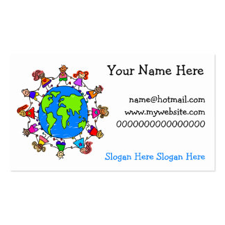 World Kids Business Card Templates