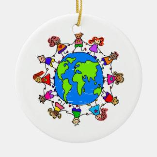 World Kids Christmas Ornament