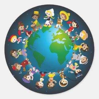 World kidz classic round sticker