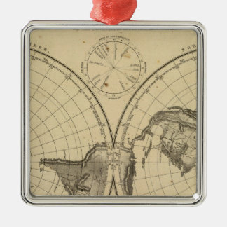 World land surface christmas ornament