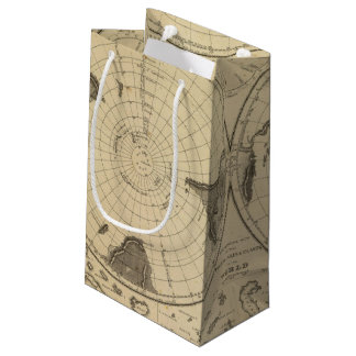 World land surface small gift bag