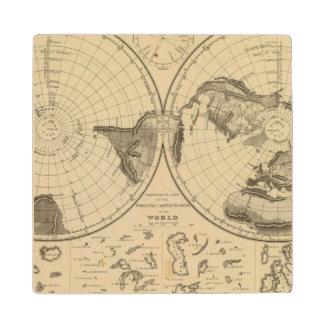 World land surface wood coaster