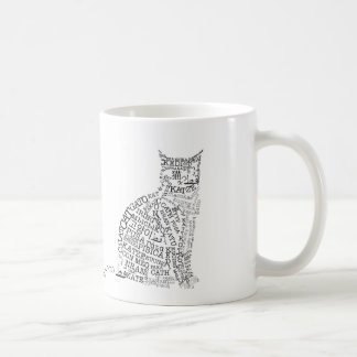 World Languages Cat Mug