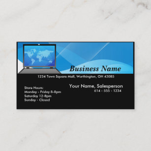 Computer shop business cards zazzle uk world laptopcomputer business card colourmoves