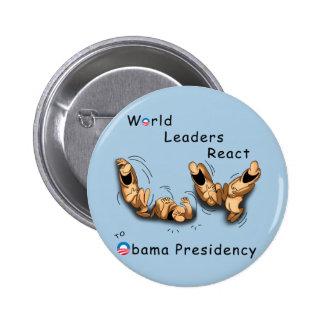 World Leaders React (Obama) 6 Cm Round Badge