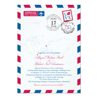 World Locations Airmail | Wedding Card