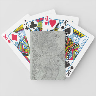 World Map 10 Bicycle Playing Cards
