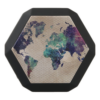 world map 10 black bluetooth speaker