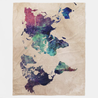 world map 10 fleece blanket